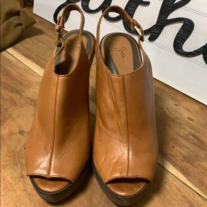 Joie Peep-Toe leather sandals 40